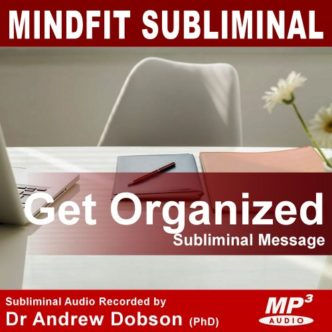 Get Organized Subliminal Message mp3 cd